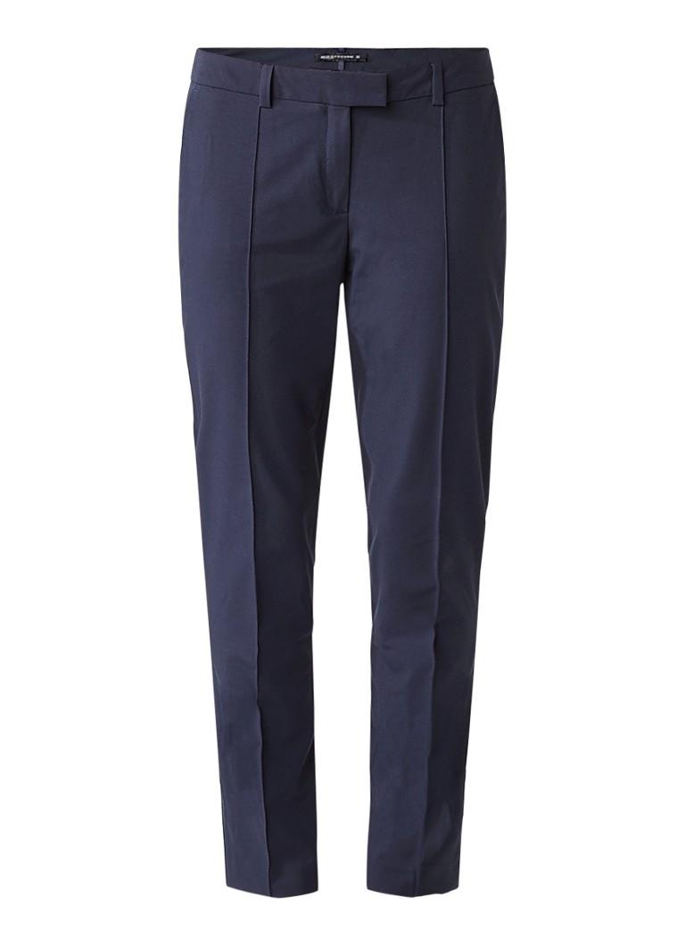 Expresso Xilan loose fit cropped pantalon met deelnaden