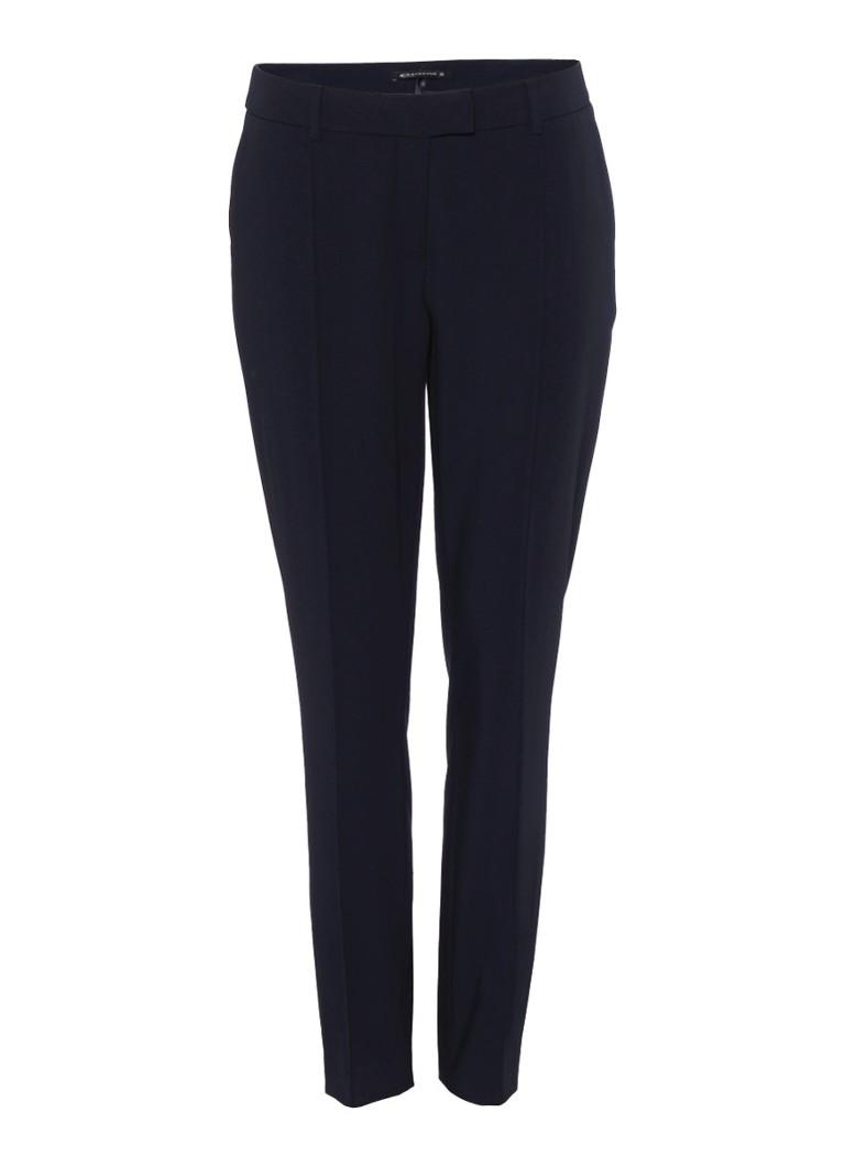 Expresso Xilan loose fit cropped pantalon met deelnaden zwart