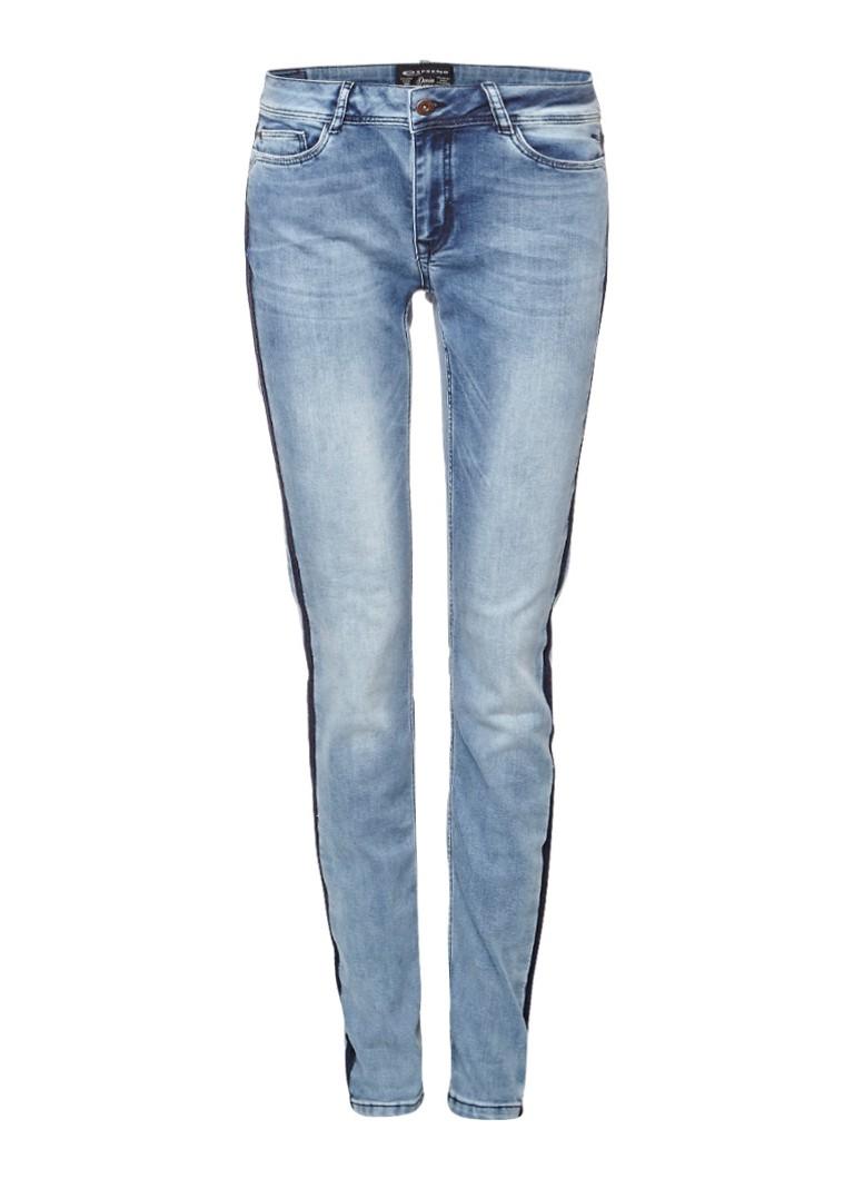 Expresso Abeldina mid rise slim fit jeans met streep details zwart