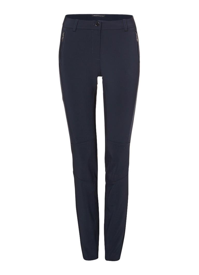 Expresso Anette broek met doorgestikte details en ritszakken zwart