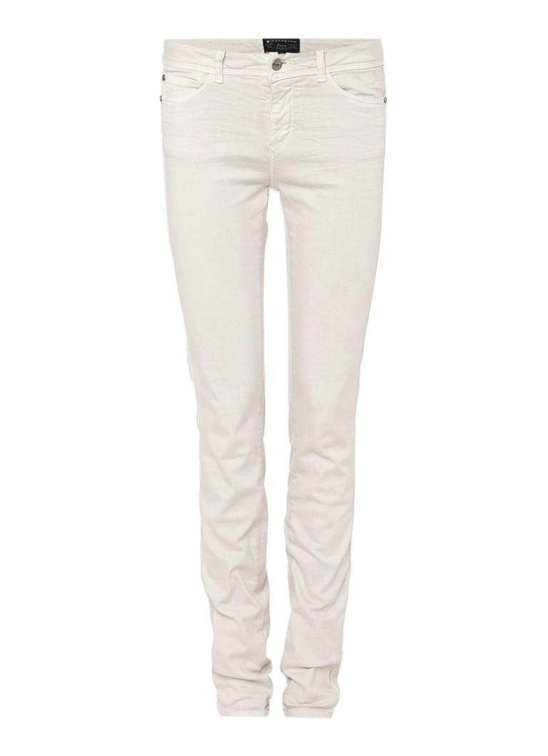 Expresso Beau mid rise skinny jeans met garment dye zwart