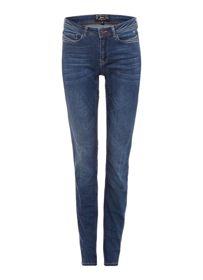 Expresso Biene mid rise skinny jeans met faded look zwart