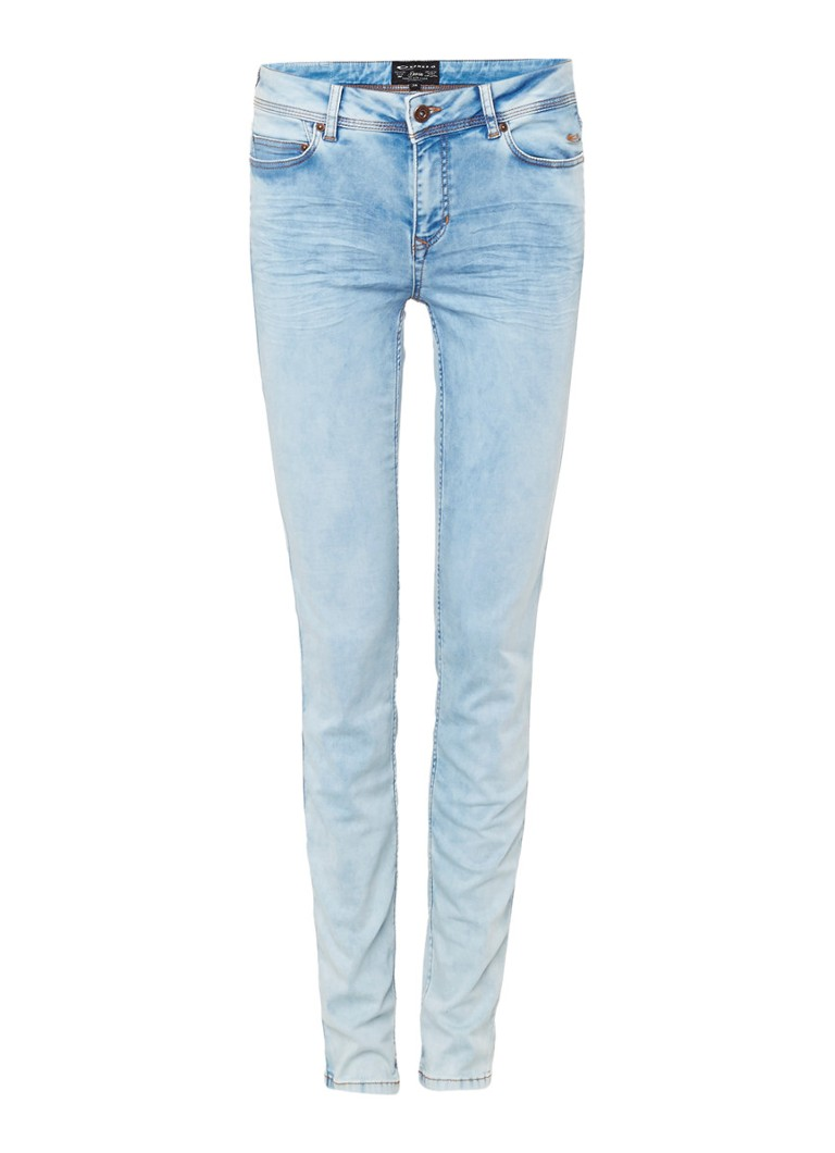 Expresso Deanne mid rise slim fit jeans met faded finish zwart
