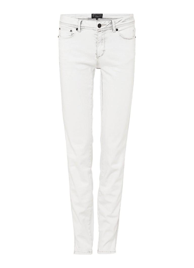 Expresso Dula mid rise slim fit jeans met verwassen look zwart