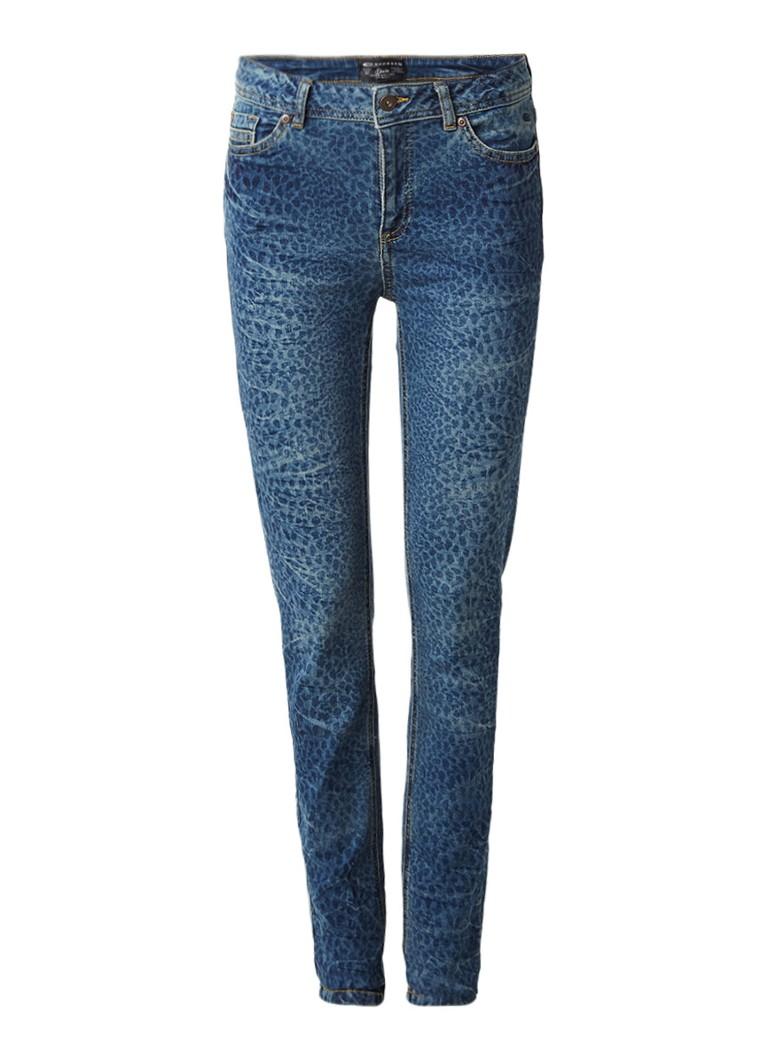 Expresso Dakota high rise skinny jeans met luipaarddessin