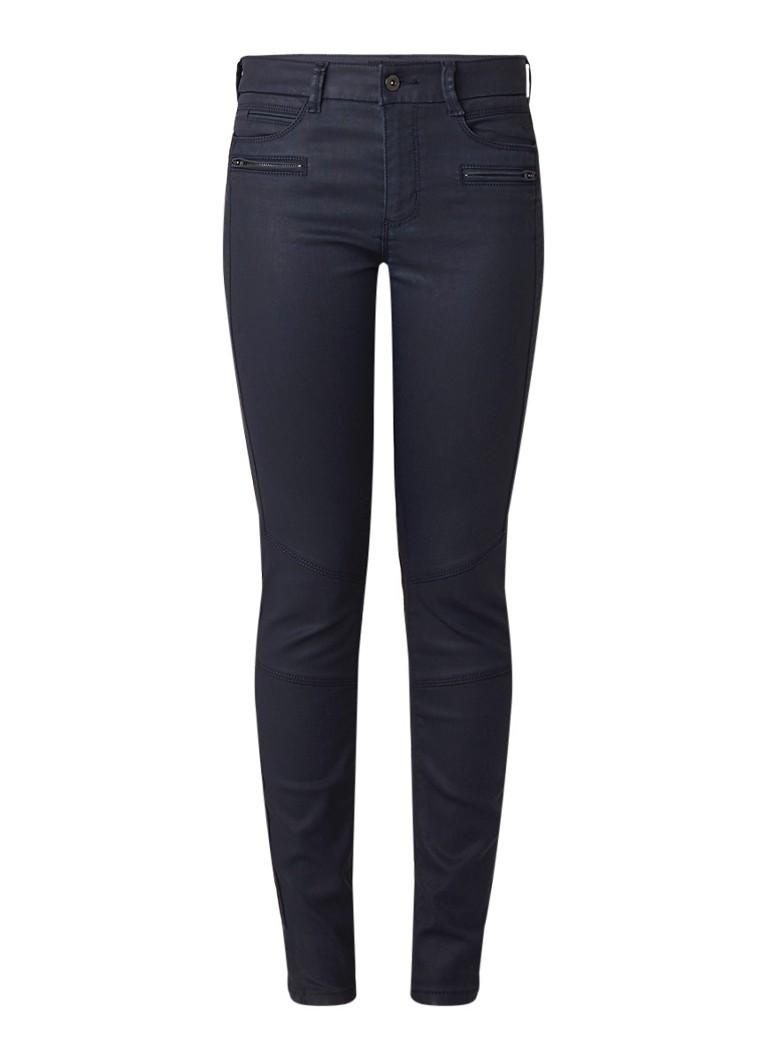 Expresso Amanda slim fit jeans met coating