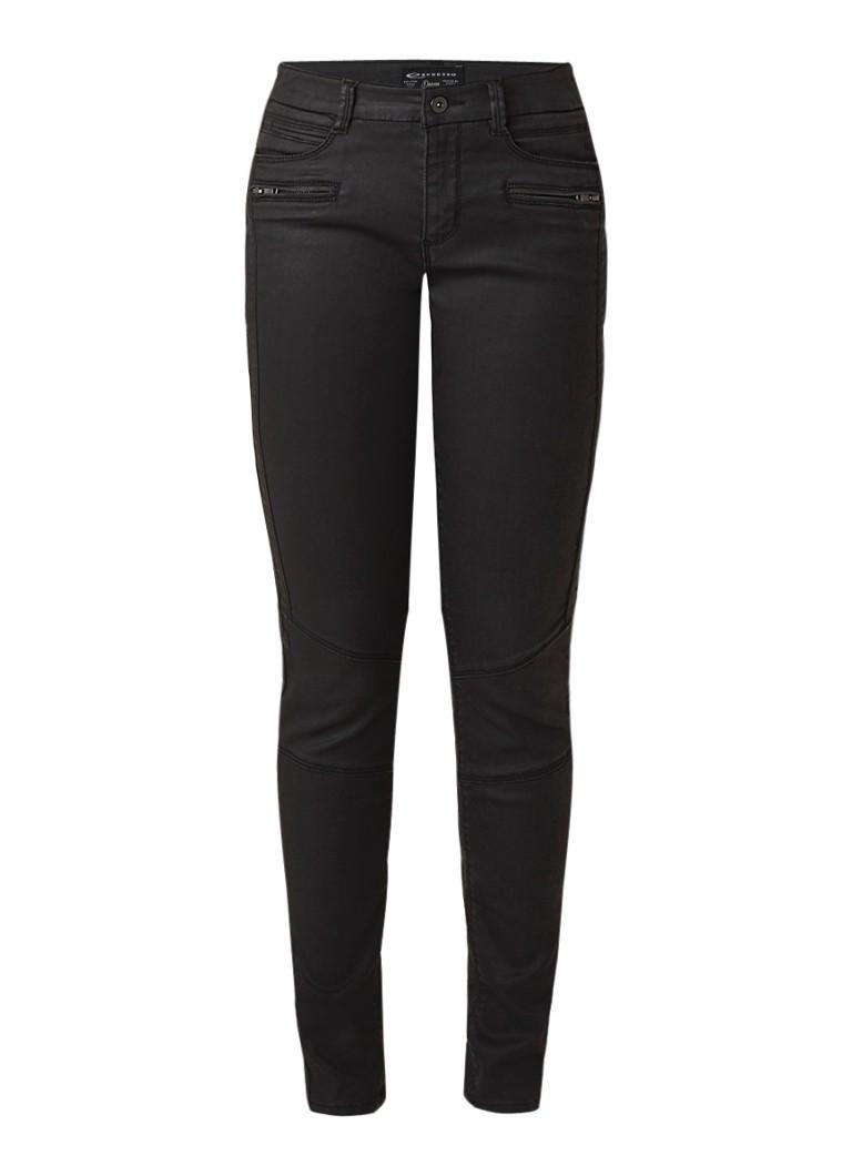 Expresso Bamanda skinny fit jeans met coating