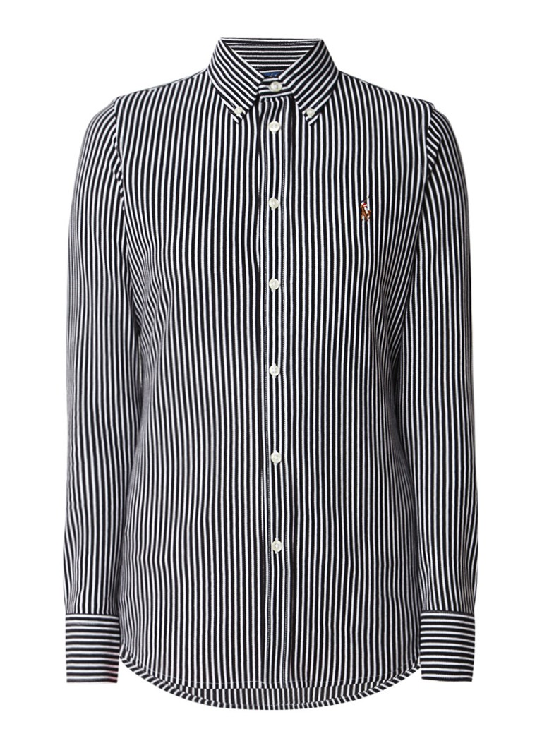 Ralph Lauren Oxford Knit blouse met button down-kraag