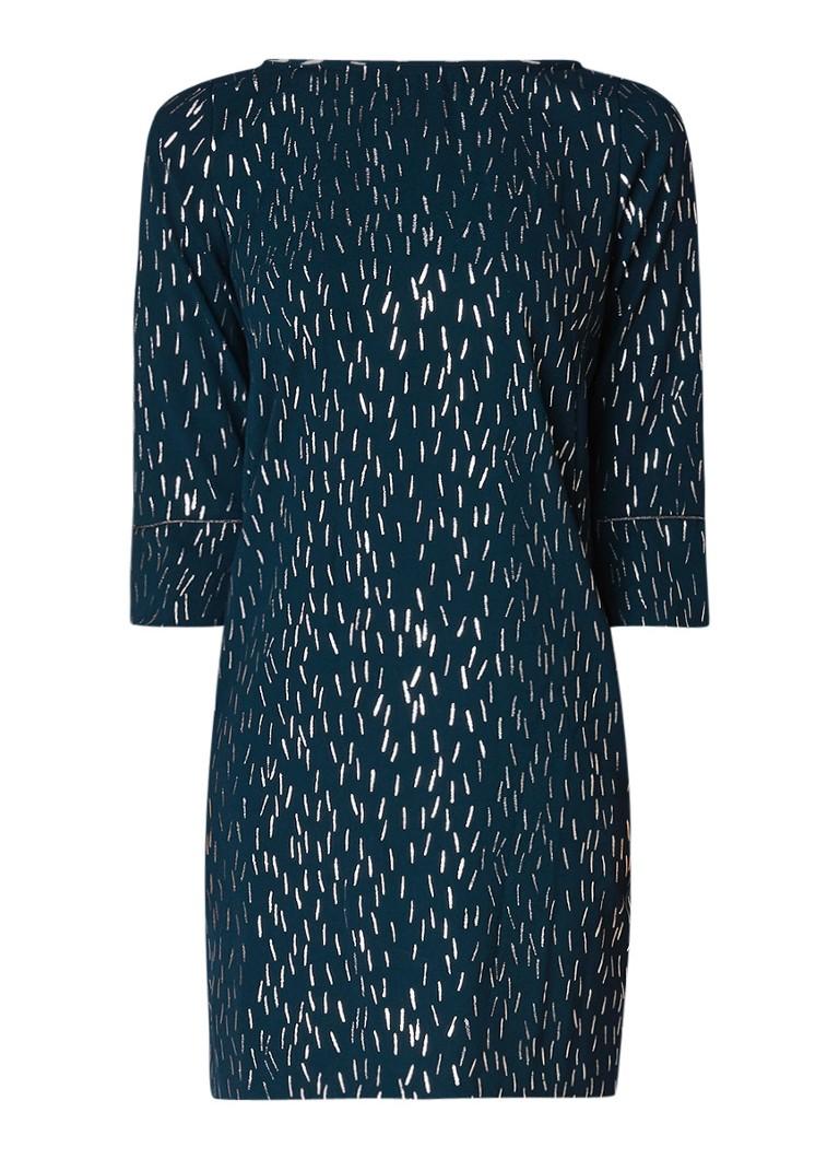 WE Fashion Layla jurk met opengewerkt detail en lurex dessin