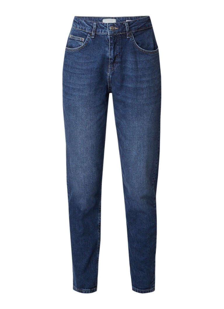 WE Fashion Blue Ridge Marly high rise slim fit jeans met faded look