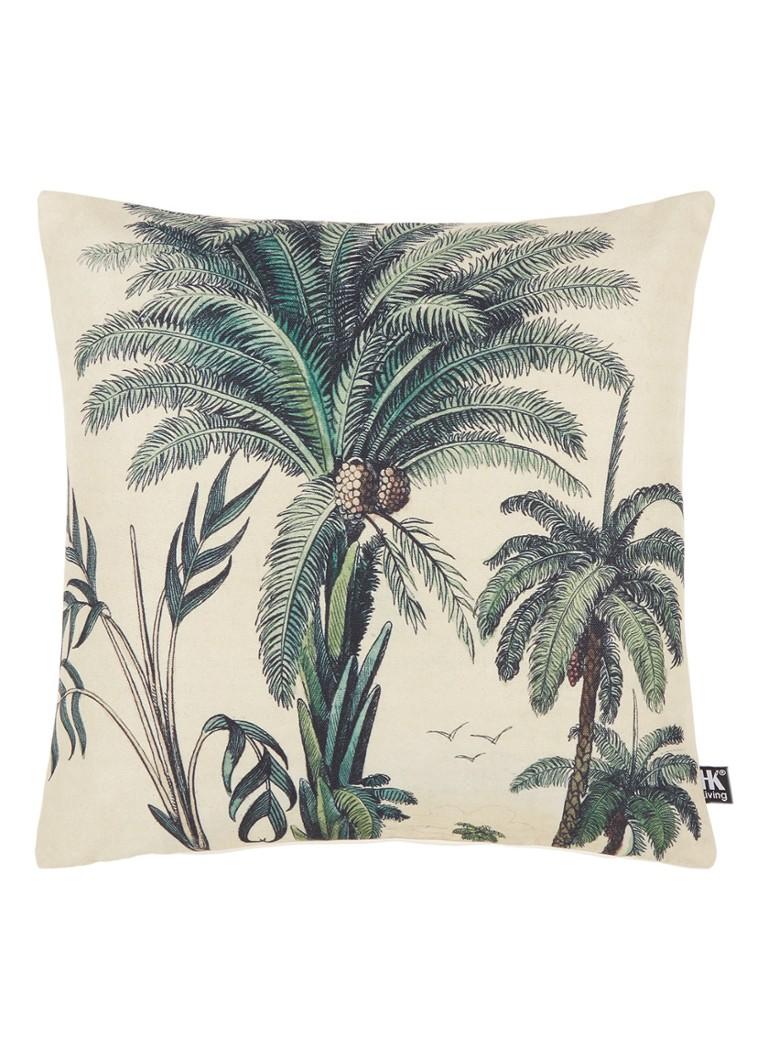HK Living Sierkussen met palmbomenprint 45 x 45 cm