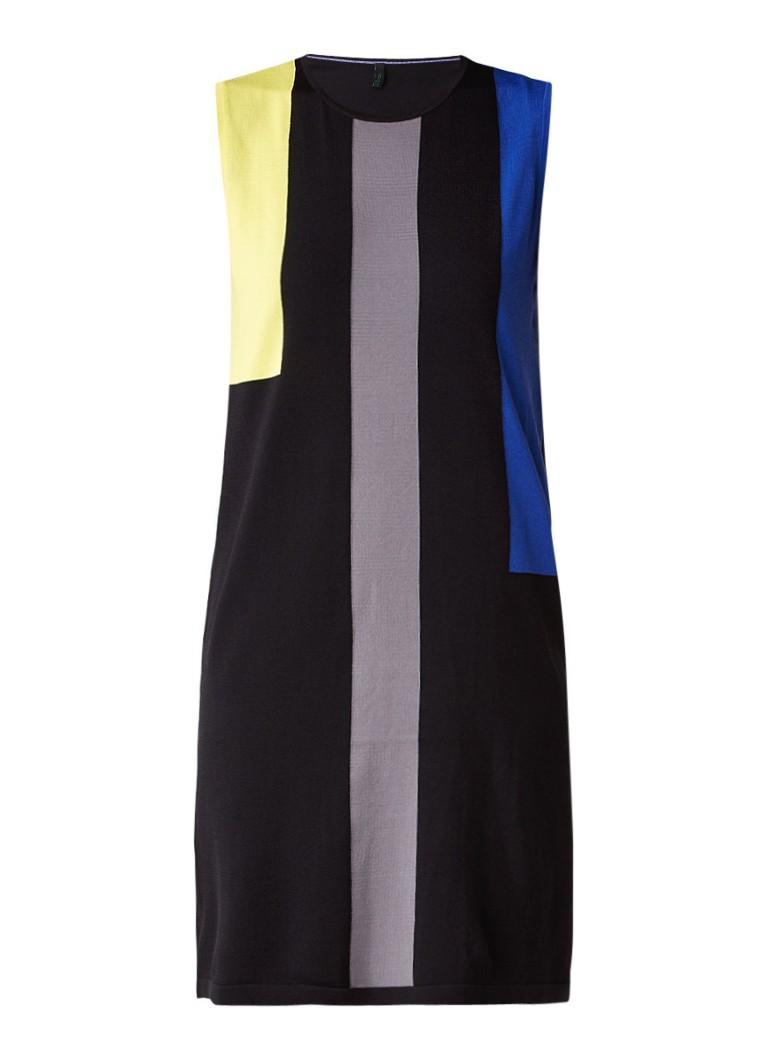 Benetton Tuniekjurk met colour block zwart
