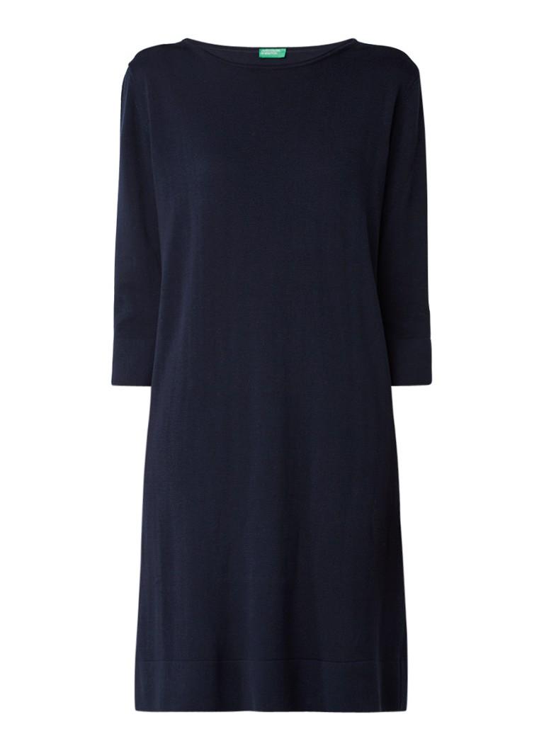 Benetton Midi-jurk van katoen lichtgrijs