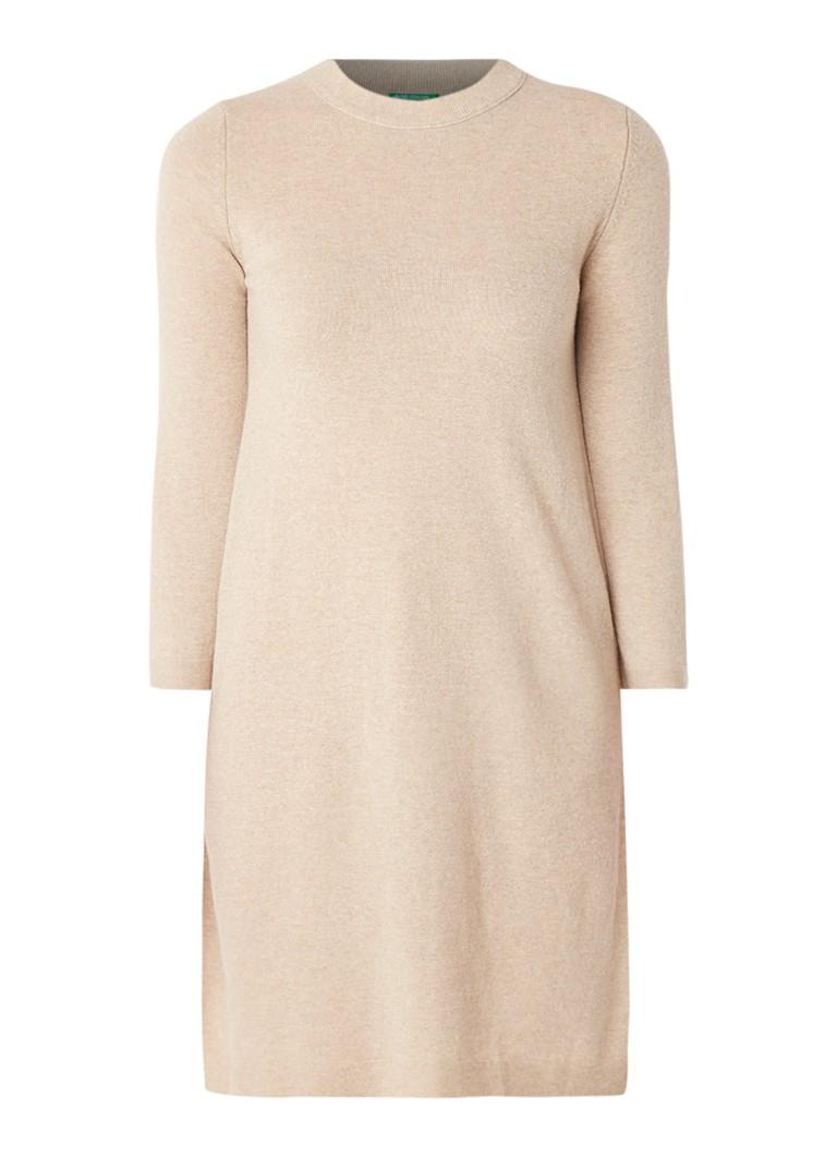 Benetton Fijngebreide trui-jurk van scheerwol zwart