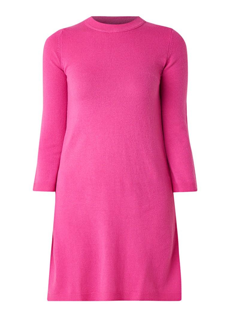 Benetton Fijngebreide trui-jurk van scheerwol roze