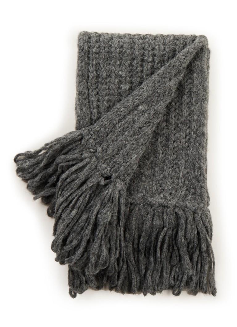 Benetton Grofgebreide sjaal in wolblend 200 x 20 cm