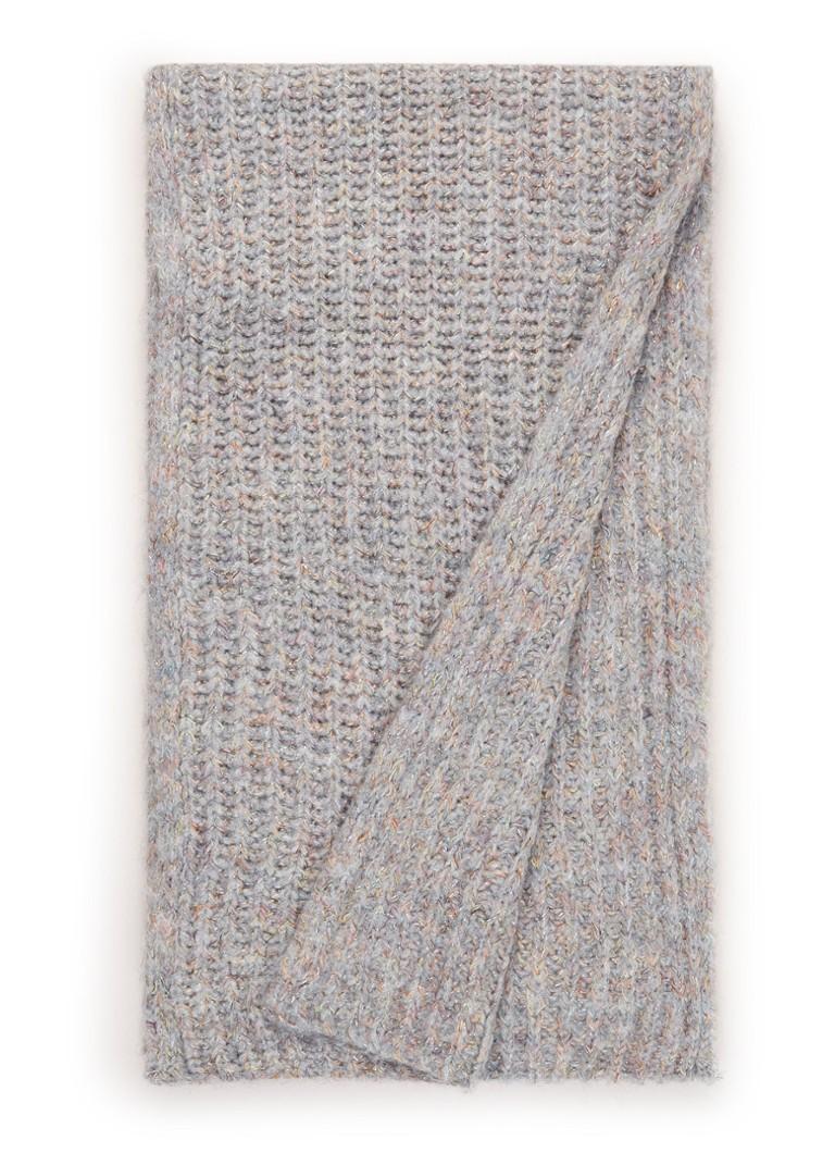 Benetton Grofgebreide sjaal in wolblend met lurex 200 - 30 cm
