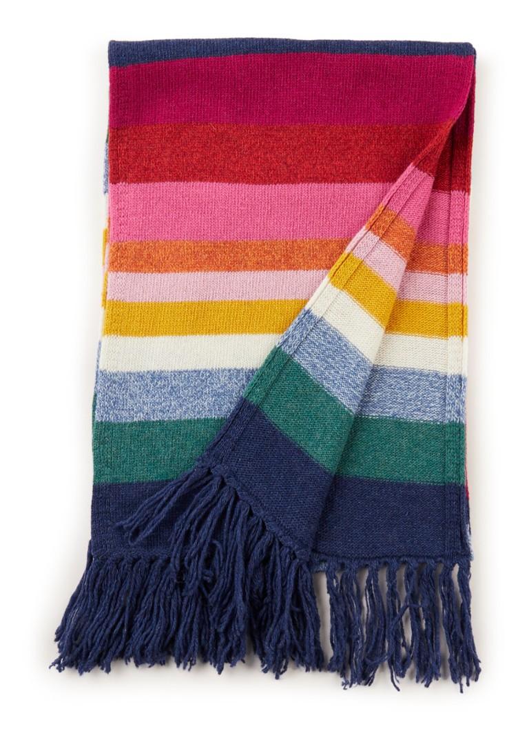 Benetton Fijngebreide sjaal in wolblend met streepdessin 180 - 30 cm