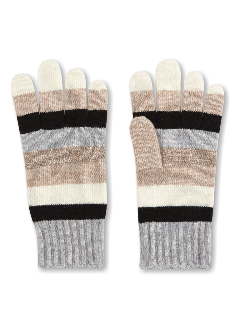 Benetton Handschoenen in wolblend met streepdessin