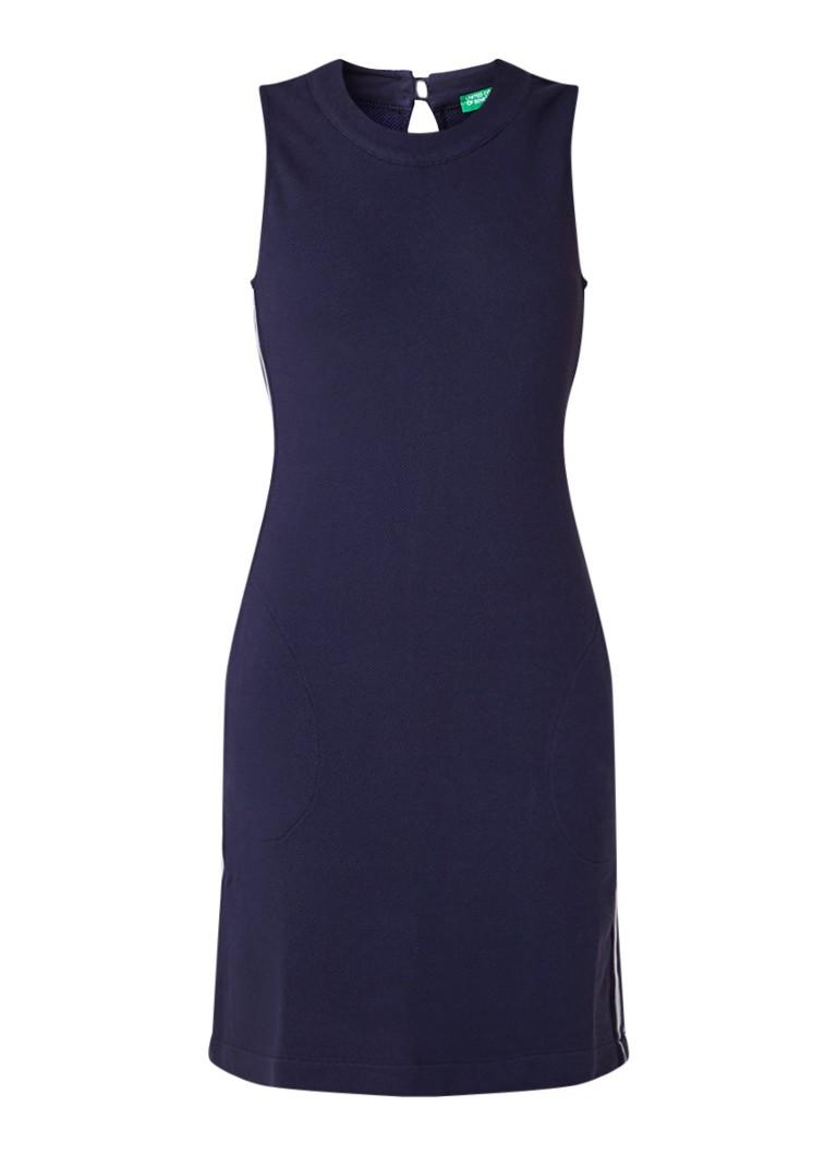 Benetton Mini-jurk met ingeweven structuur en steekzakken donkerblauw