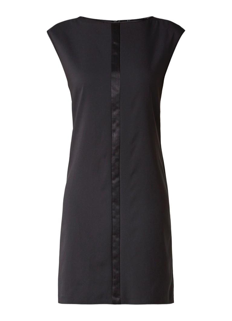 Benetton Mouwloze jurk met contrasterende bies zwart