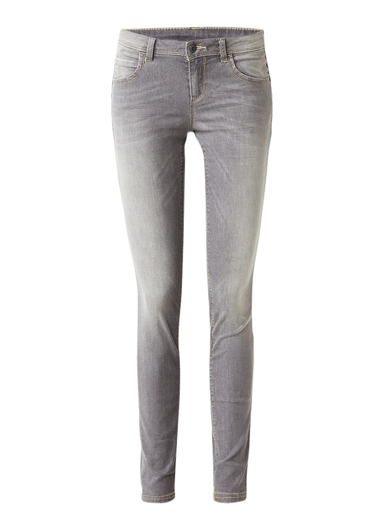 Benetton Mid rise skinny fit jeans met faded look