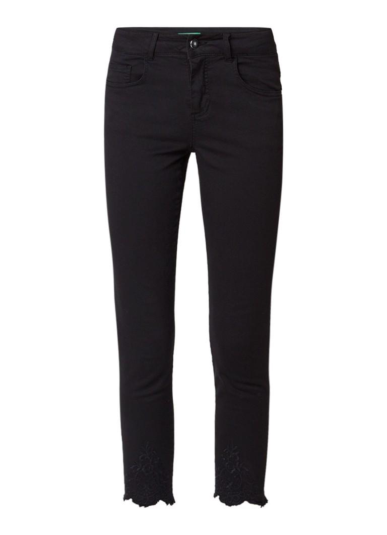 Benetton High rise cropped skinny jeans met gerafelde zoom