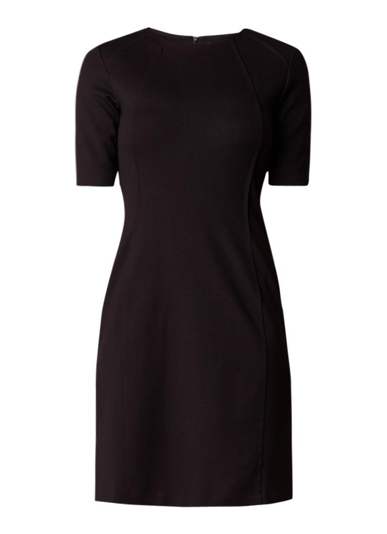 Benetton Jersey midi-jurk met halflange mouw donkerblauw