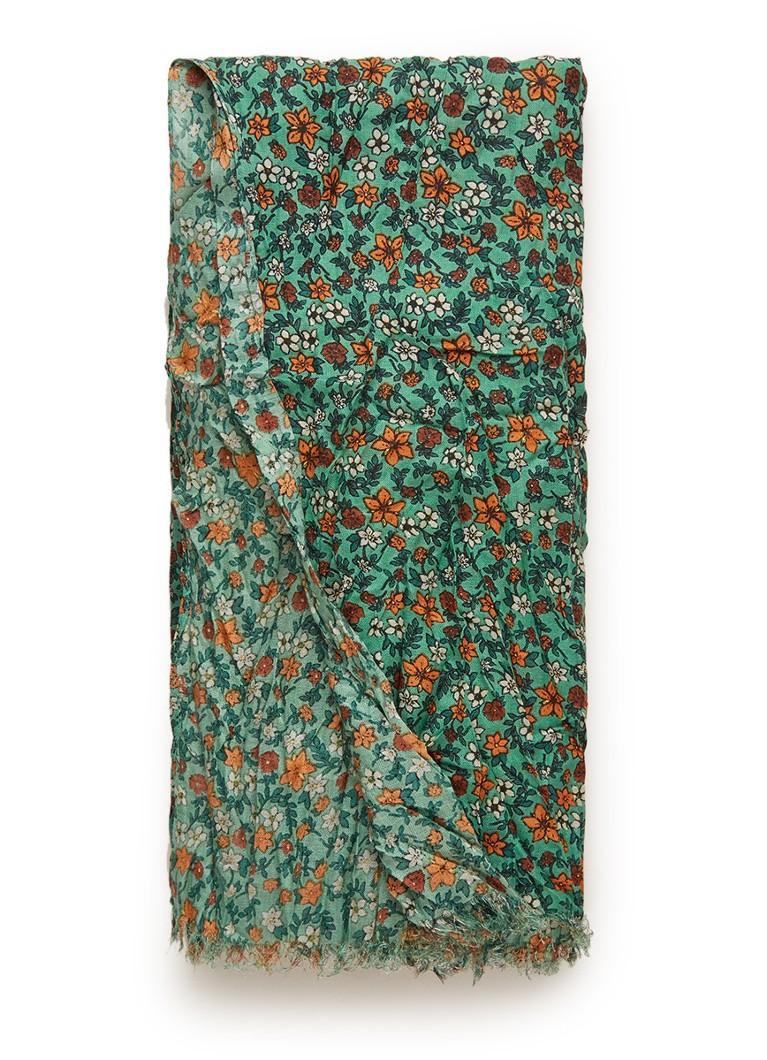 Benetton Sjaal met bloemendessin 180 x 110 cm