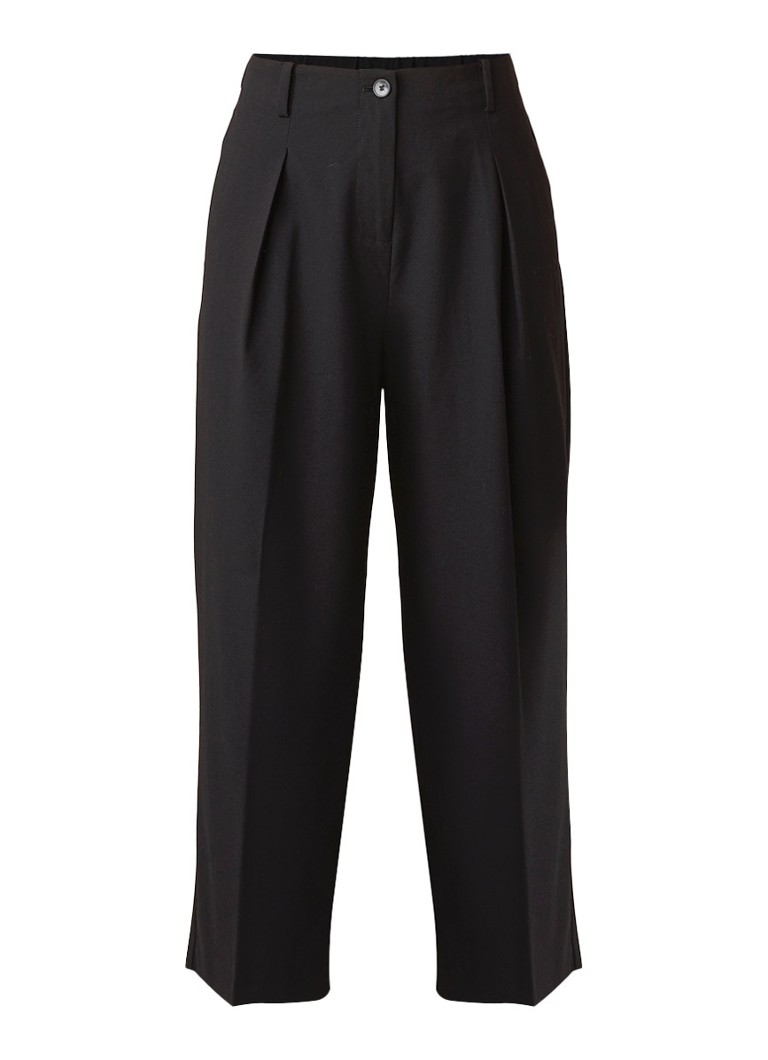 Benetton High rise cropped straight fit pantalon