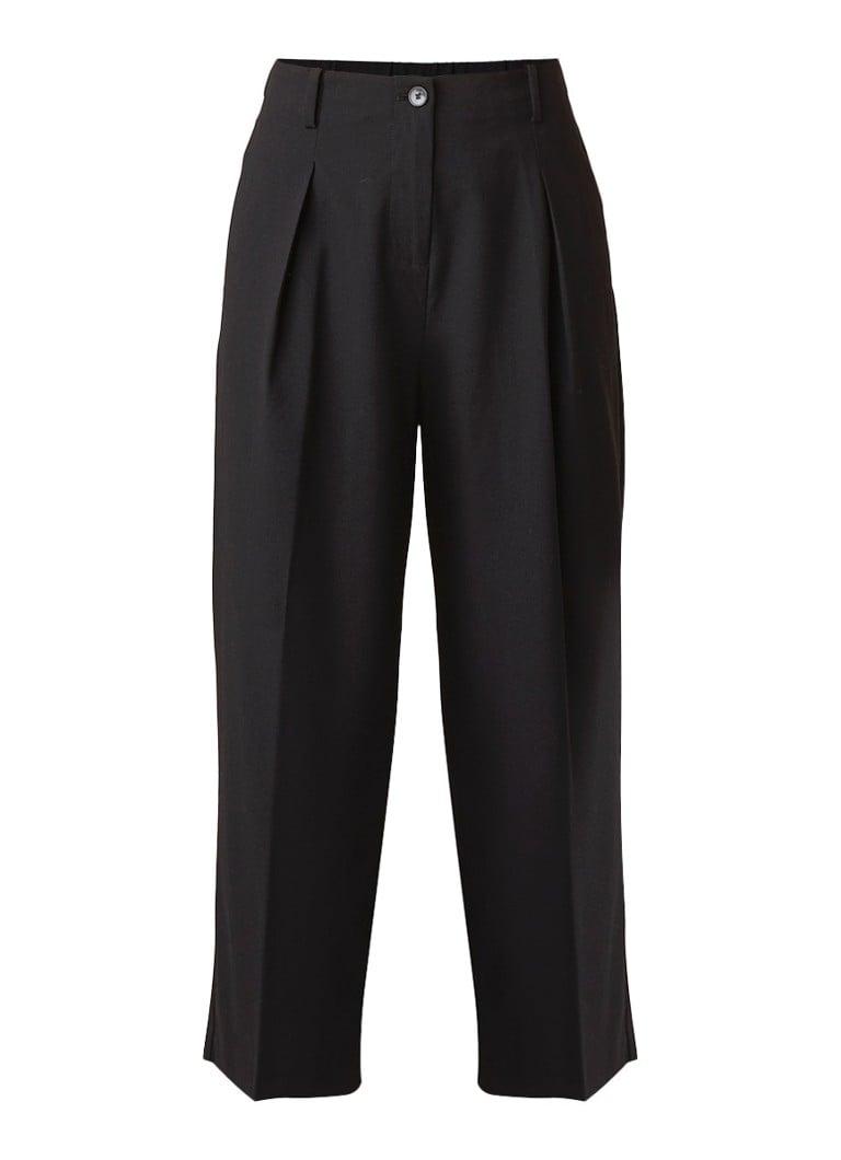 Benetton High rise cropped straight fit pantalon
