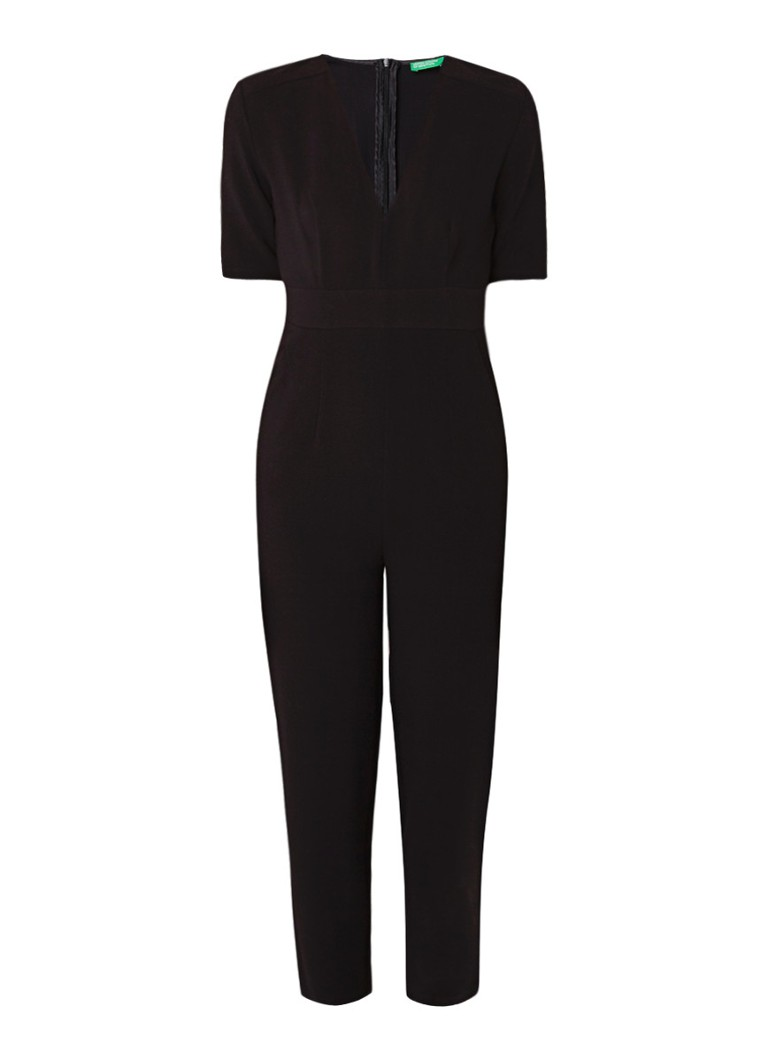Benetton Cropped jumpsuit met V-hals