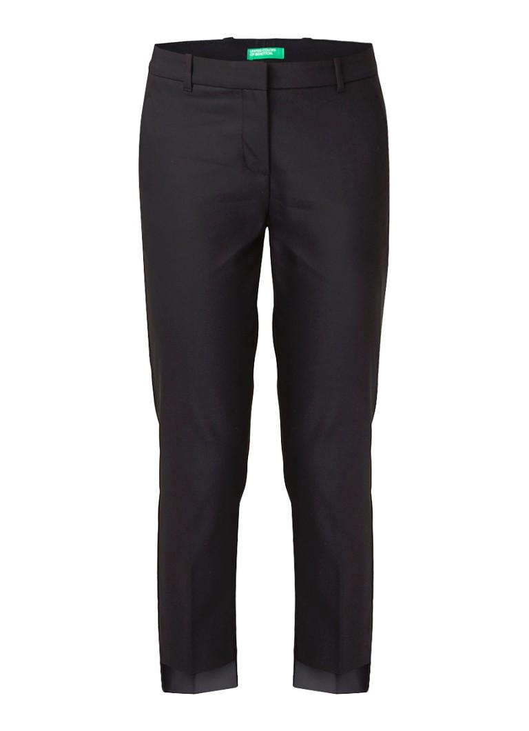 Benetton Cropped skinny fit pantalon van stretchkatoen