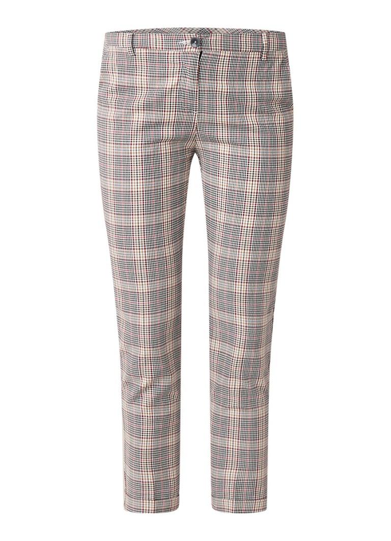 Image of Benetton Cropped slim fit pantalon met ruitdessin