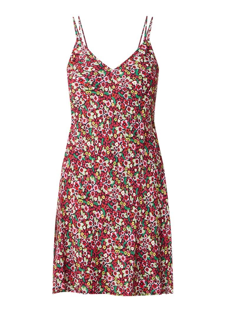 Benetton Mini-jurk met bloemendessin donkerroze