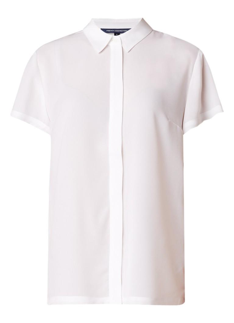 French Connection Classic loose fit blouse met korte mouw en plissé