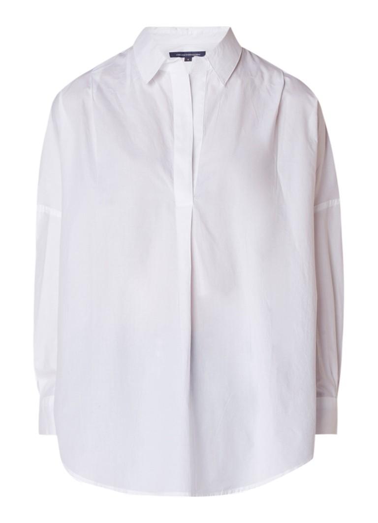 French Connection Rhodes oversized blouse van katoen