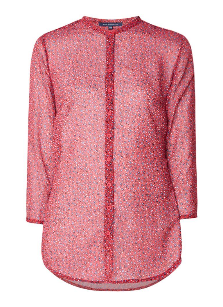 French Connection Aubine semi-transparante blouse met dessin