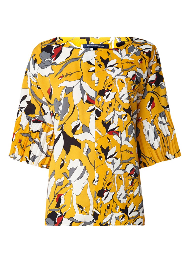French Connection Callluna blousetop met bloemdessin en plissé mouw