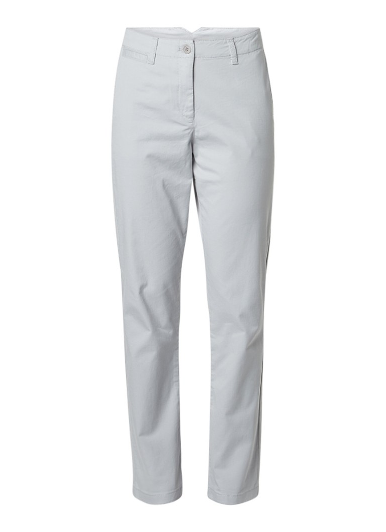 French Connection Slim fit chino van stretchkatoen grijs