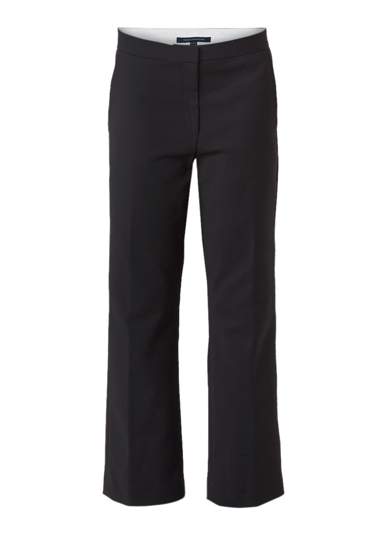 French Connection Glass cropped pantalon met stretch grijs
