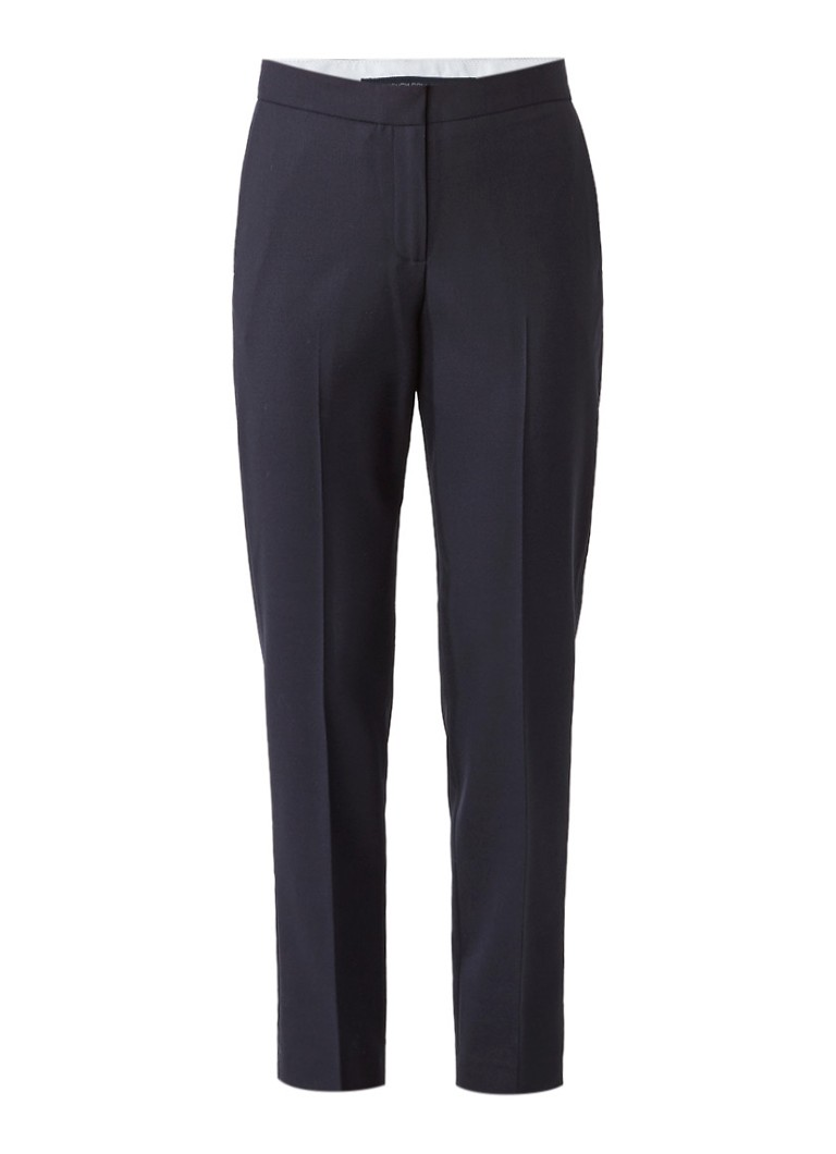 French Connection Talulah pantalon in scheerwolblend met persplooien grijs