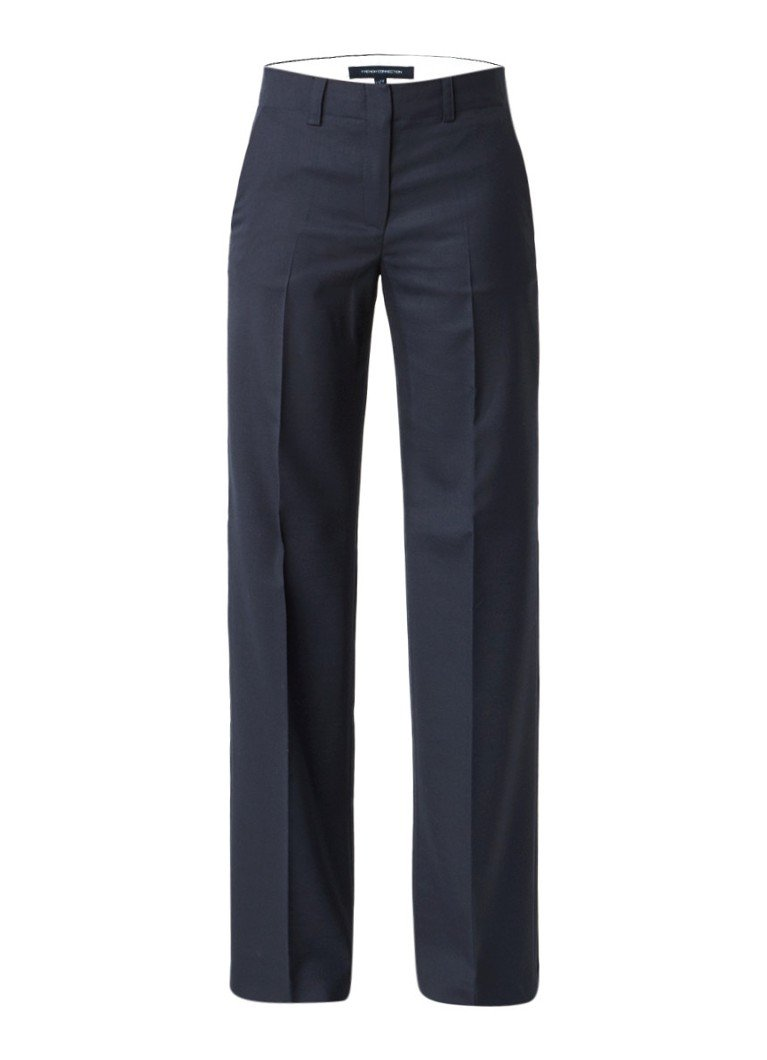 French Connection Summer Talulah straight fit pantalon grijs