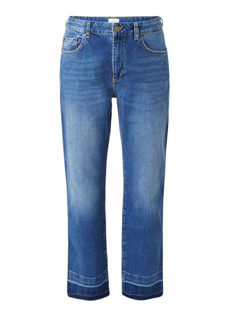 French Connection High rise straight fit jeans met uitgelegde zoom