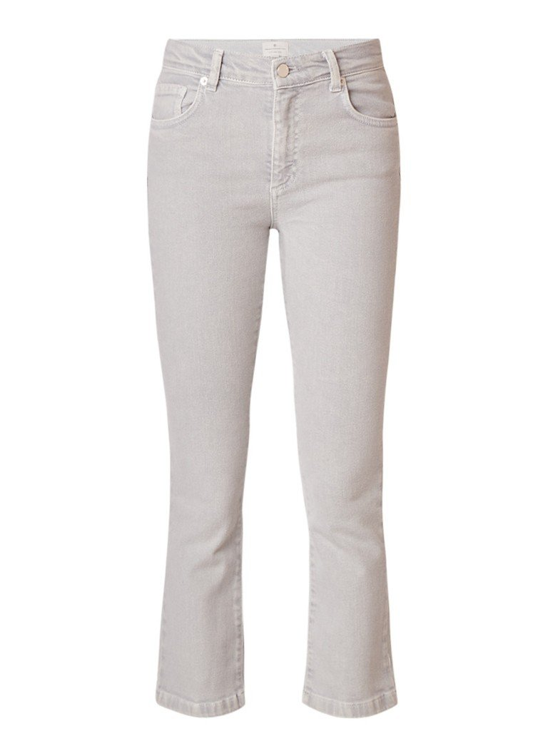 French Connection Jay mid rise cropped kick flare jeans