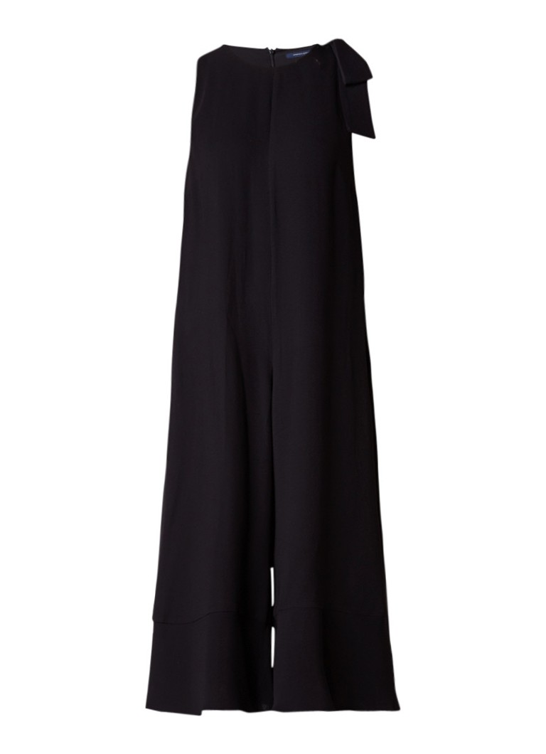 French Connection Cropped loose fit jumpsuit met strikdetail