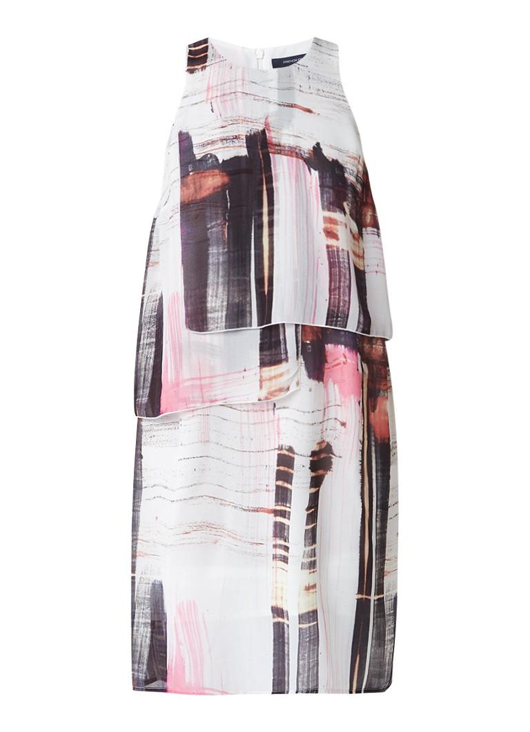 French Connection Cornell jurk met dessin en overlay