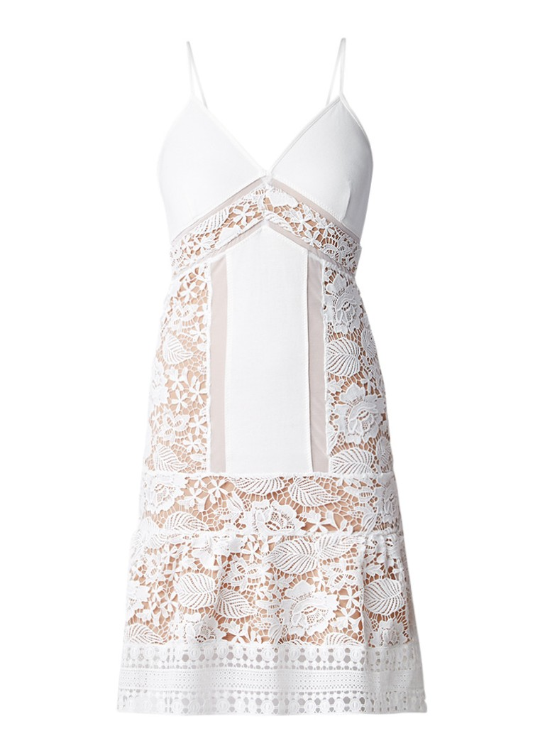 French Connection Shaka jurk van kant gebroken wit