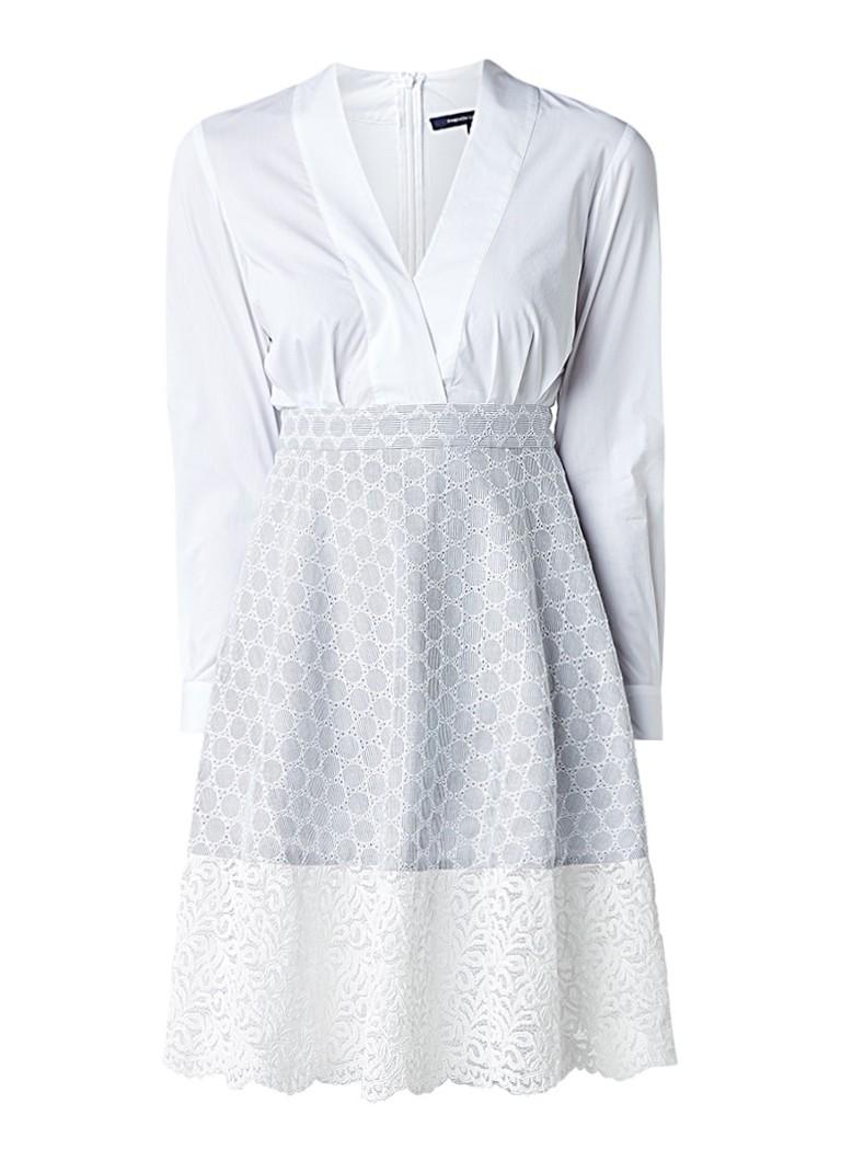 French Connection Oni A-lijn jurk met onderzijde van kant wit