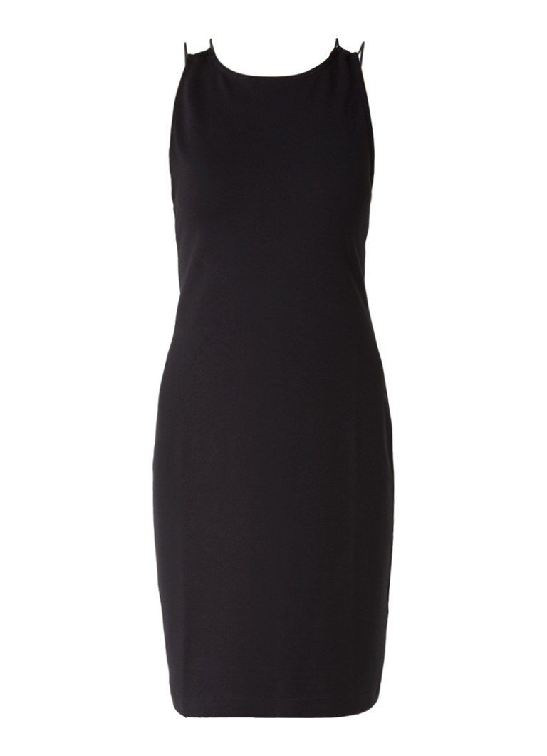 French Connection Kali strappy jurk met gekruiste bandjes zwart